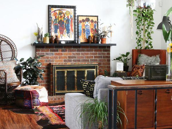 Un intérieur cozy et bohème