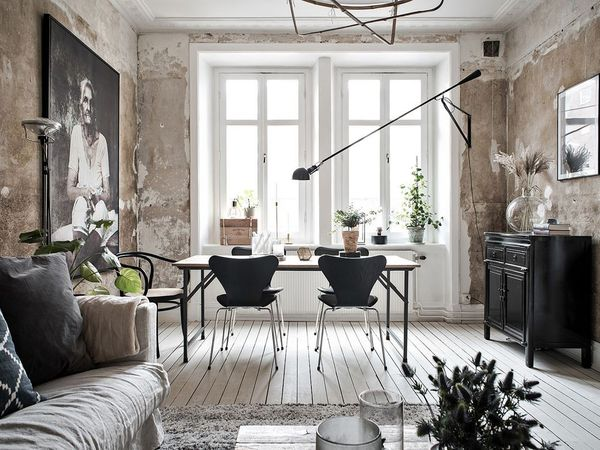 Le charme d'un appartement aux murs délabrés