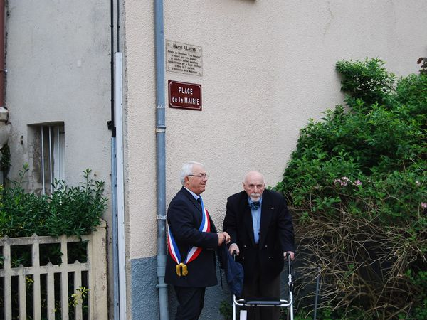 Inauguration plaque Marcel CLAEYS,  Blyes 9 mai 2015