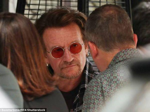 U2 -Bono au Scott's Restaurant-Londres 10-07-2017