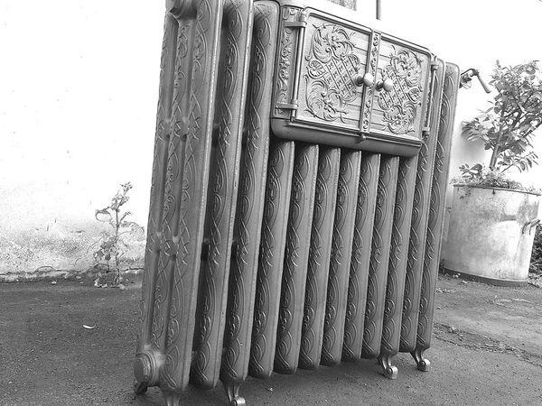 r novation d 39 un splendide et rare radiateur fonte chauffe plats art nouveau godin 1909. Black Bedroom Furniture Sets. Home Design Ideas