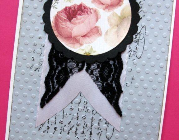carte d'anniversaire : papier graphic 45 sentiment katzelkraft, papillon marianne design et katzelkraft