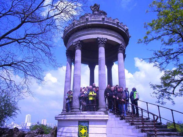 Le Parc des Buttes Chaumont et ses visiteurs du jour