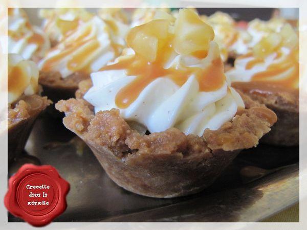Mini Cheesecakes pommes &amp&#x3B; Caramel au beurre salé