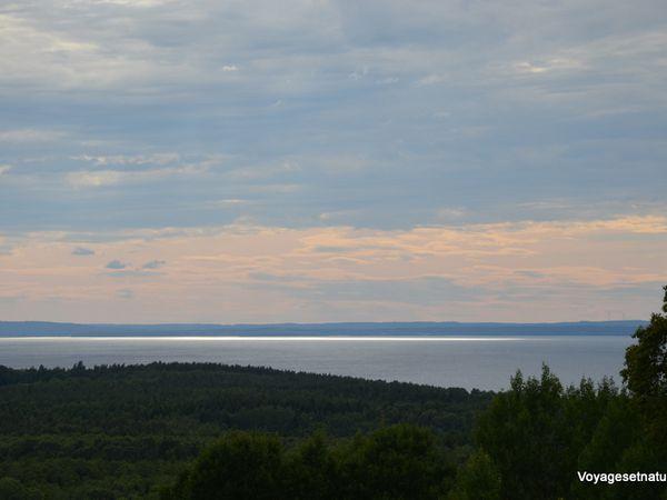 Lac Vattern (1900 km²) vers Motala