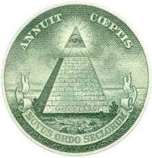 La pyramide satanique apparaît dans le Revenant. A son sommet un étendard rouge écarlate, symbole du sang versé par le culte de la mort, le culte de Satan/Saturne.