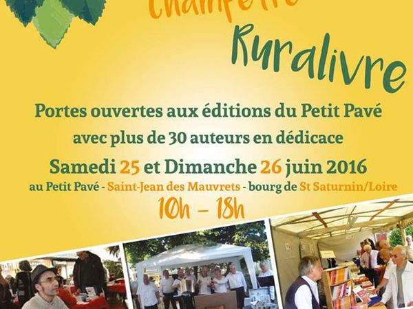 Editions du Petit Pavé et ateliers d'écriture de l'été.