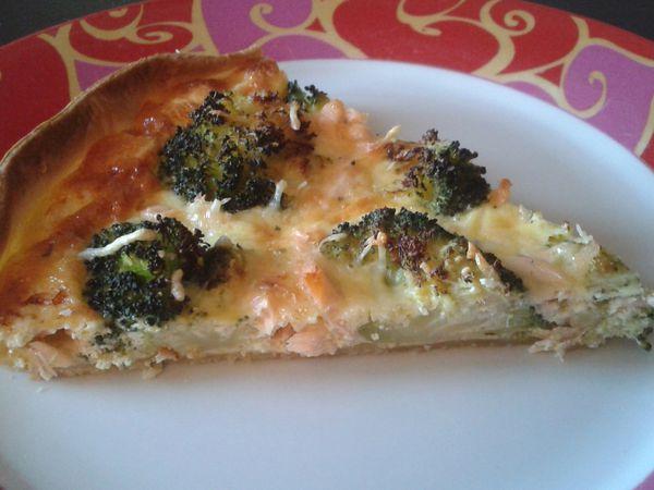 Quiche brocolis saumon