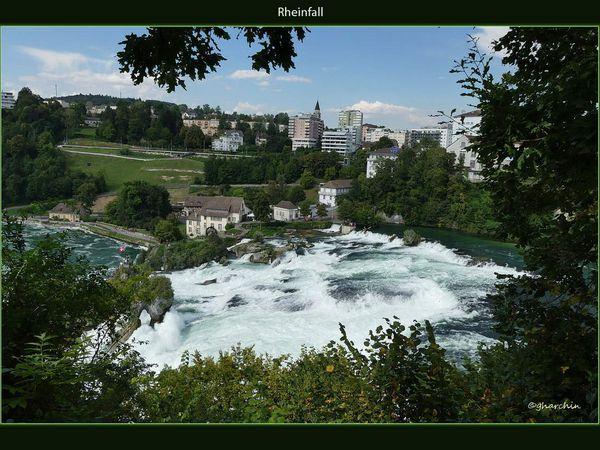 Les chutes du Rhin en allemagne