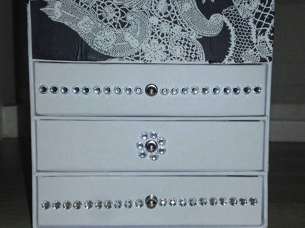 Nouvelle boîte à bijoux dentelle