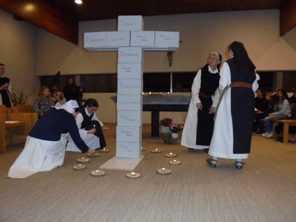 Photos de la veillée oecuménique à l'abbaye Notre-Dame de Soleilmont