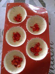 Dôme au chocolat, fraises et vanille