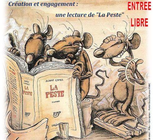Affiche conférence, salle et Franck Planeille