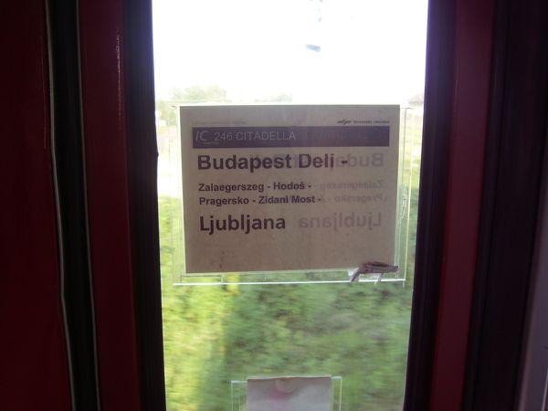 Entre Budapest et Ljubljana