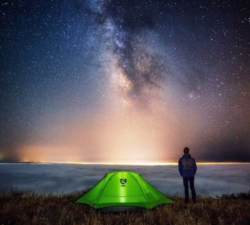 Camping in a minimalist style