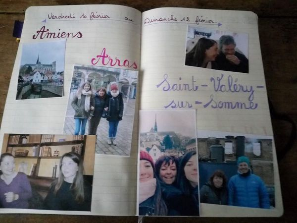 Les souvenirs de février dans mon bullet journal