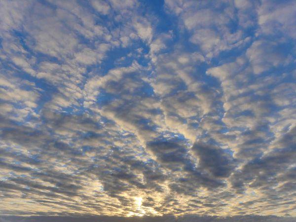 Je sais pas qui a pris toutes ces photos de ciel, je trouve ça un peu abusé.
