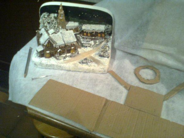 Première création du village de Noël 2011