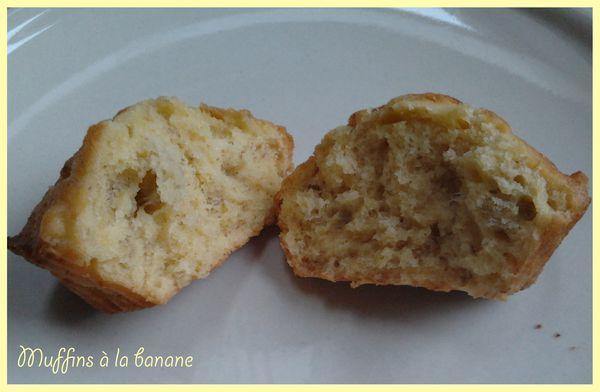 Muffins tous simples à la banane