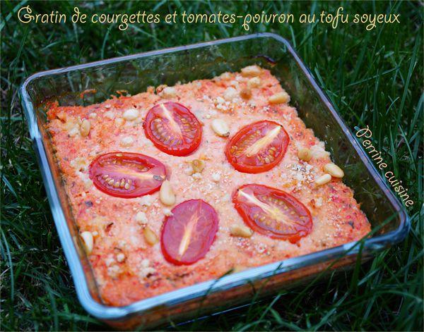 Gratin de courgettes et tomates au tofu soyeux