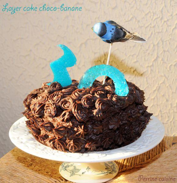 Layer cake choco-banane