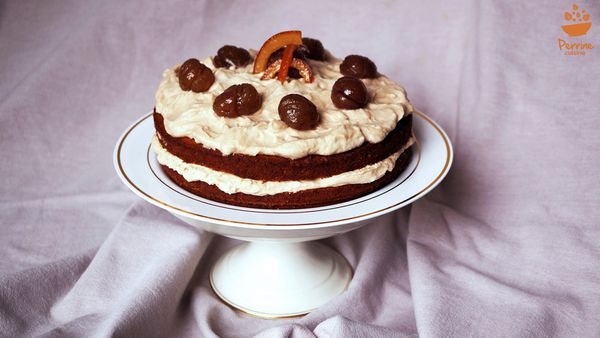 Naked carrot cake à la crème de marrons et partenariat Imbert