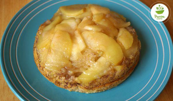 Pudding renversé pomme-banane {sans œuf, sans gluten}