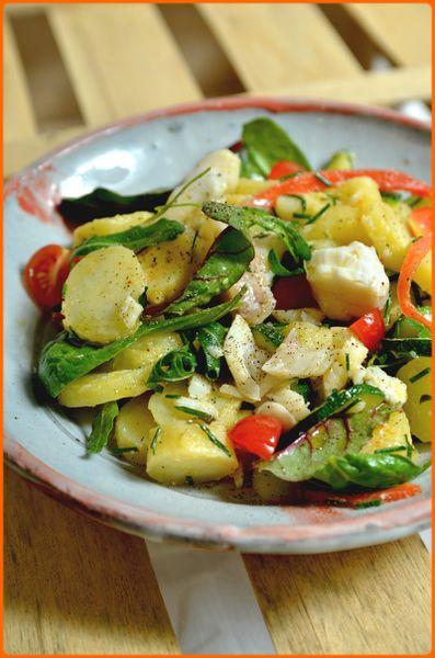 Salade de cabillaud pour soir de flemme