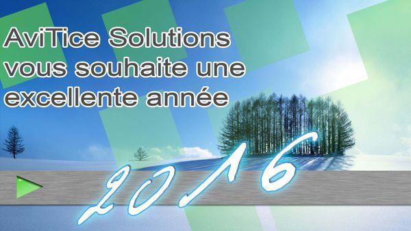 AviTice Solutions vous souhaite une excellente année 2016 !!!