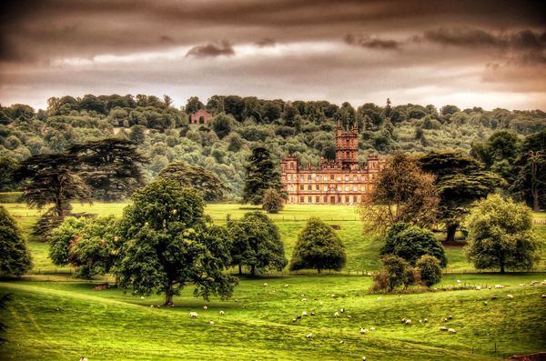 Highclere Castle, set di Downton Abbey