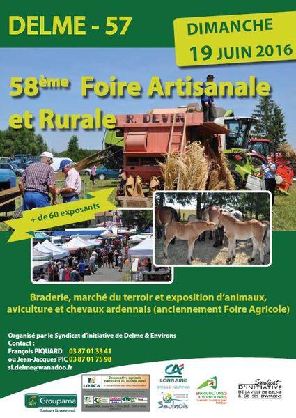 Delme Foire agricole et commerciale avec fête foraine le 19 juin 2016