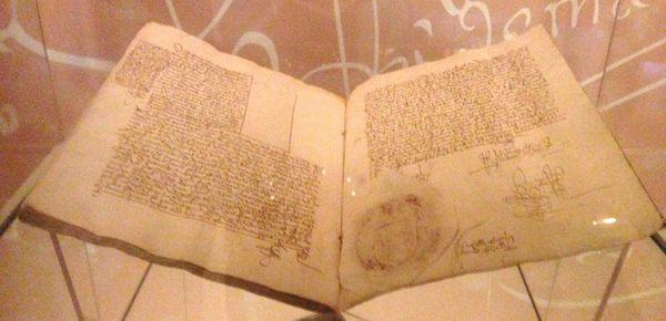 carnet de notes daté de 1498