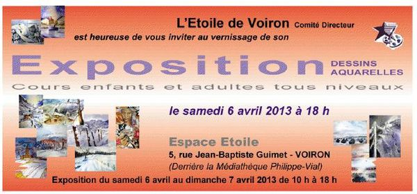 Exposition 2013  les 6 &amp&#x3B; 7 avril