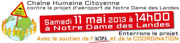 Une Chaîne humaine contre le projet d'aéroport de Notre-Dame-des-Landes