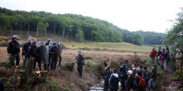 Un millier de manifestants contre le barrage de Sivens