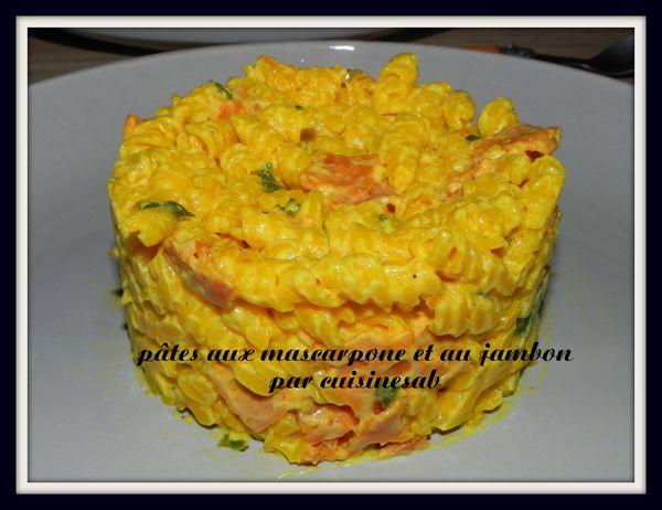 pâte aux mascarpone et au jambon