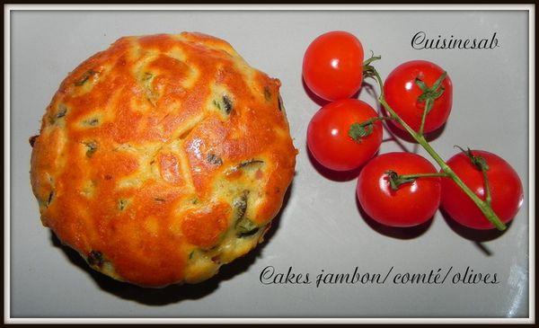 Cake jambon/comté/olives