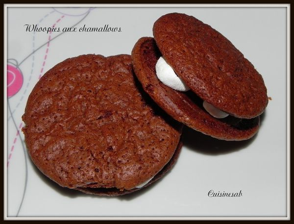 Whoopies aux chocolat et chamallows