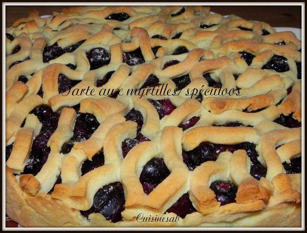 Tarte aux myrtilles /spéculoos