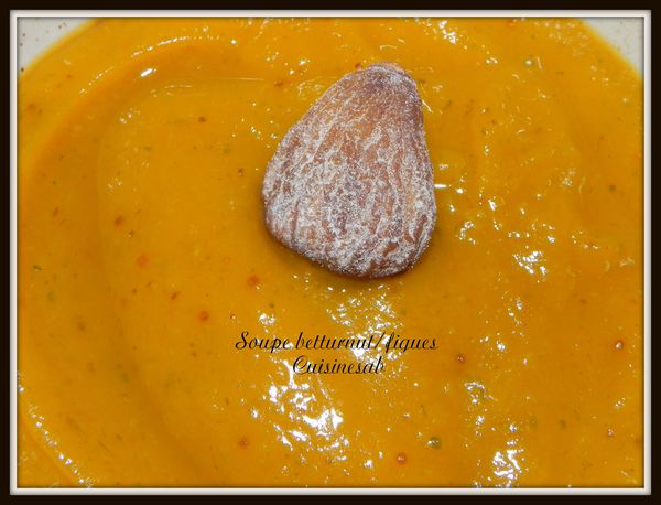 Soupe butternut /figues