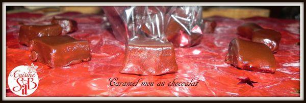 caramels mous au chocolat noir