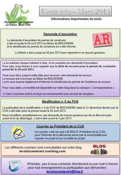 Flash infos n°4 / Mars 2013