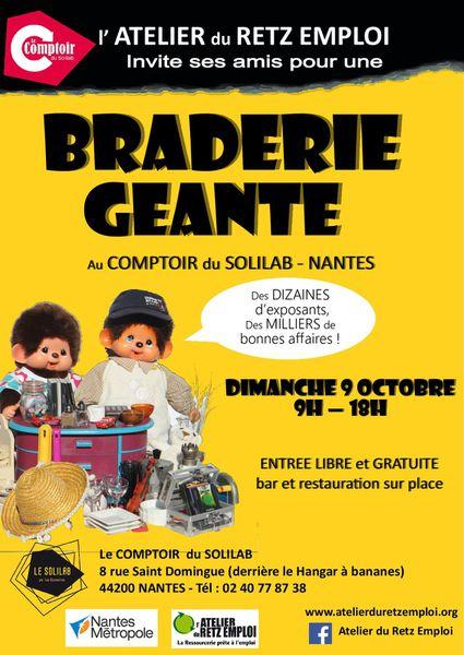 Les Recyclarts Présents à la BRADERIE GEANTE Le Dimanche 9 Octobre