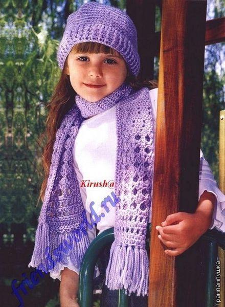 Echarpe et bonnet pour fille et leurs grilles gratuites !