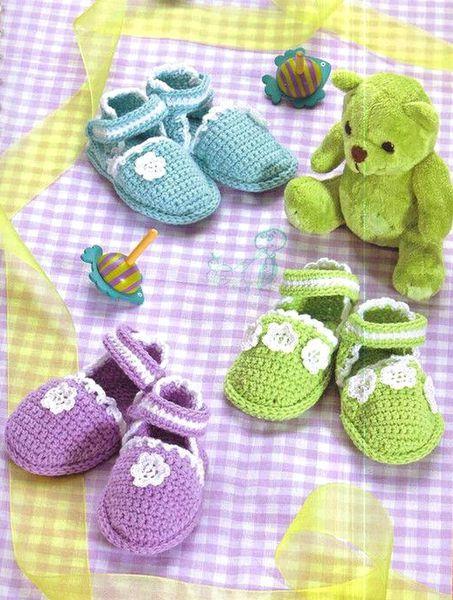 Chaussons fleuris pour bébé et sa grille gratuite !