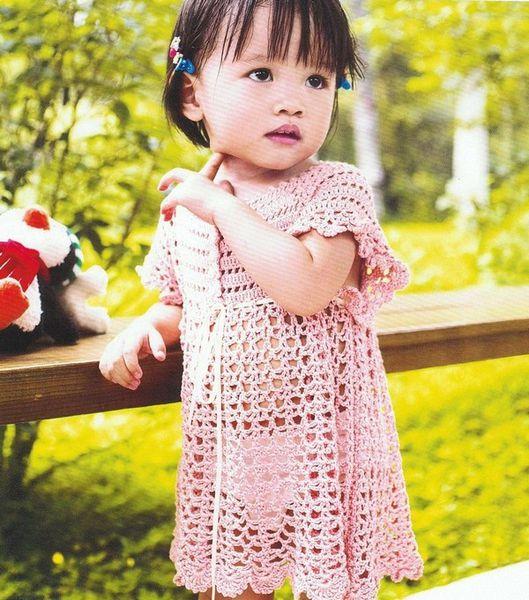 Robe rose pour fillette avec ses grilles gratuites !