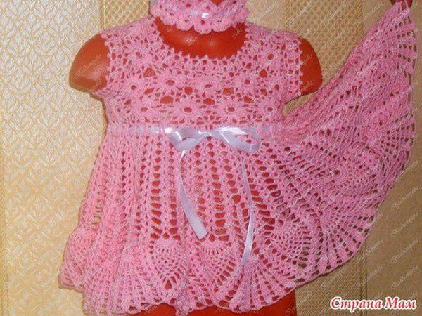 Robe rose pour fillette de 1 an et ses grilles gratuites !