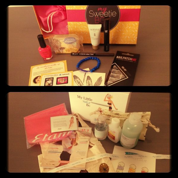Beauté Box Juillet 2013 - My Little Box et My Sweetie Box