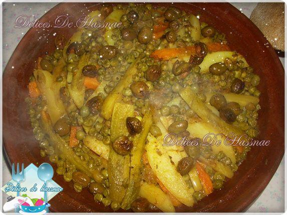 Tajine aux légumes:طاجين بالخضار