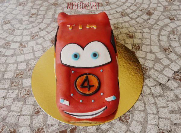 Gâteau Cars Flash Mc Queen
